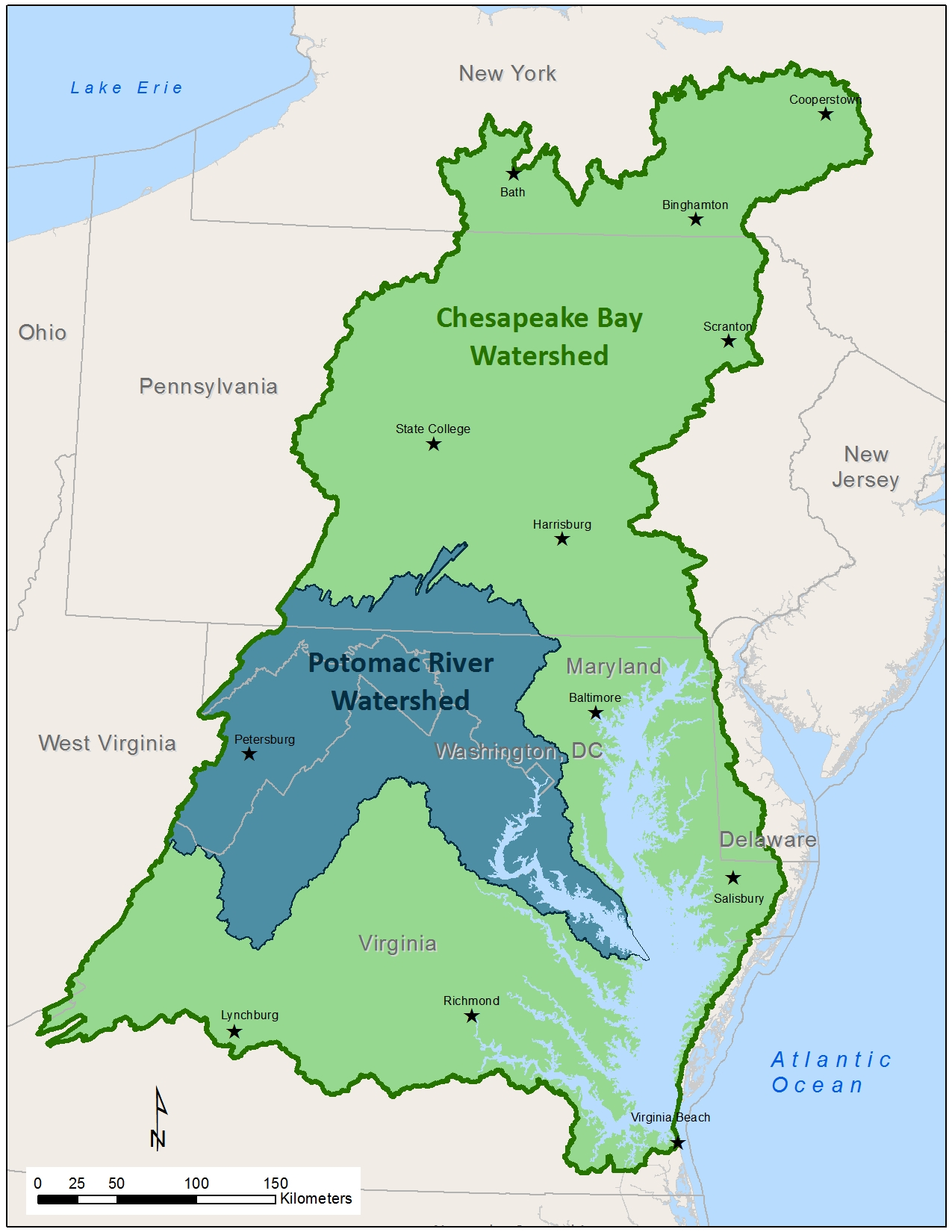 Potomac River Basin Atlas - Subwatersheds