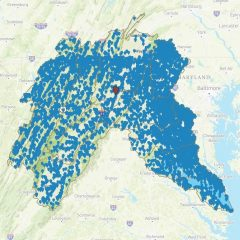 Screenshot of map
