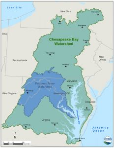 Potomac Basin within the Chesapeake Bay Watershed