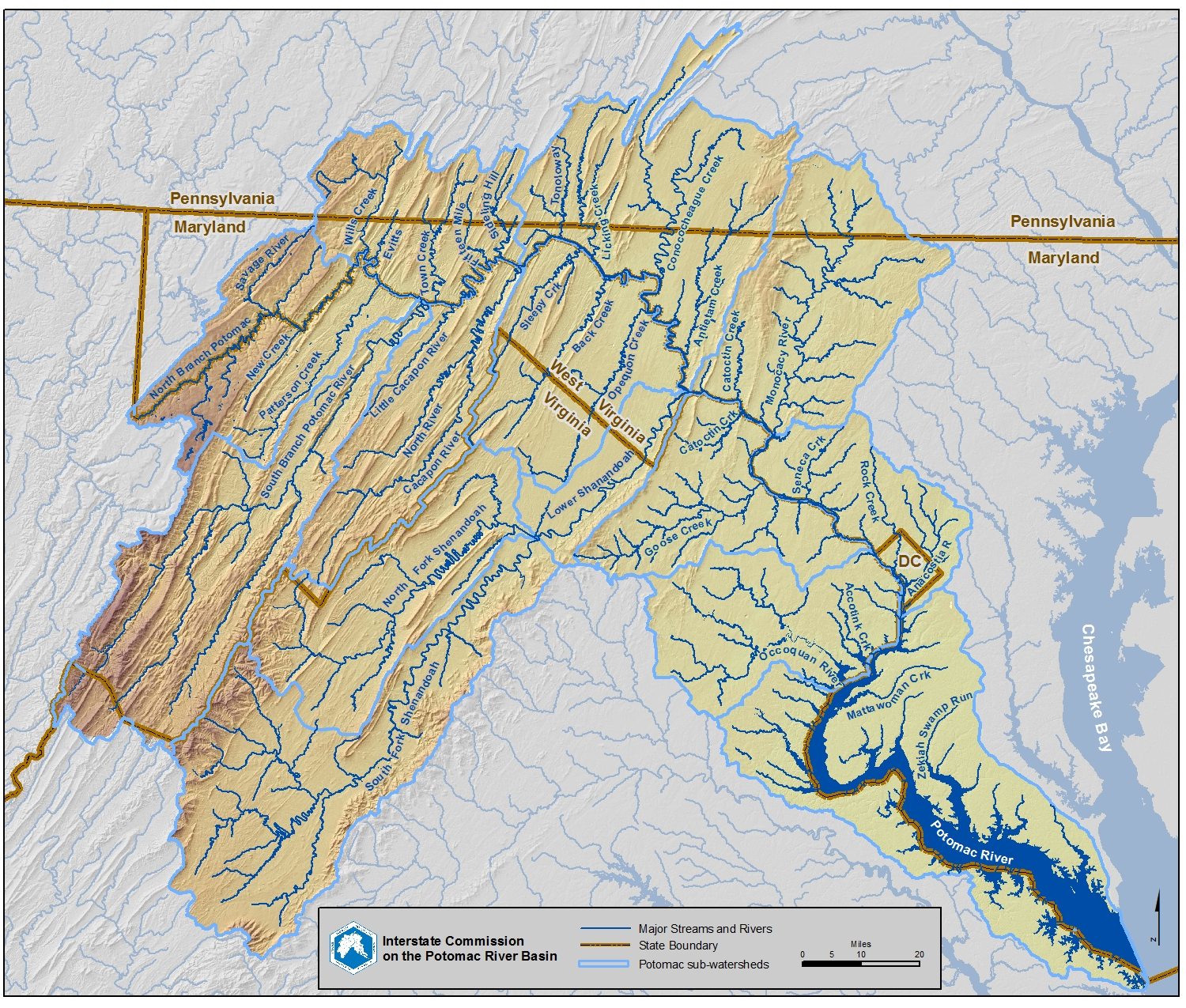 Lower Potomac River Maps to Download: DC to Opequon Creek