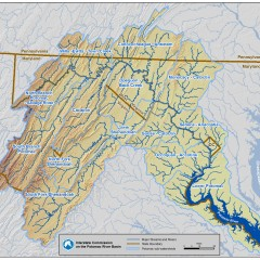 Potomac Sub-Watershed Map with Streams