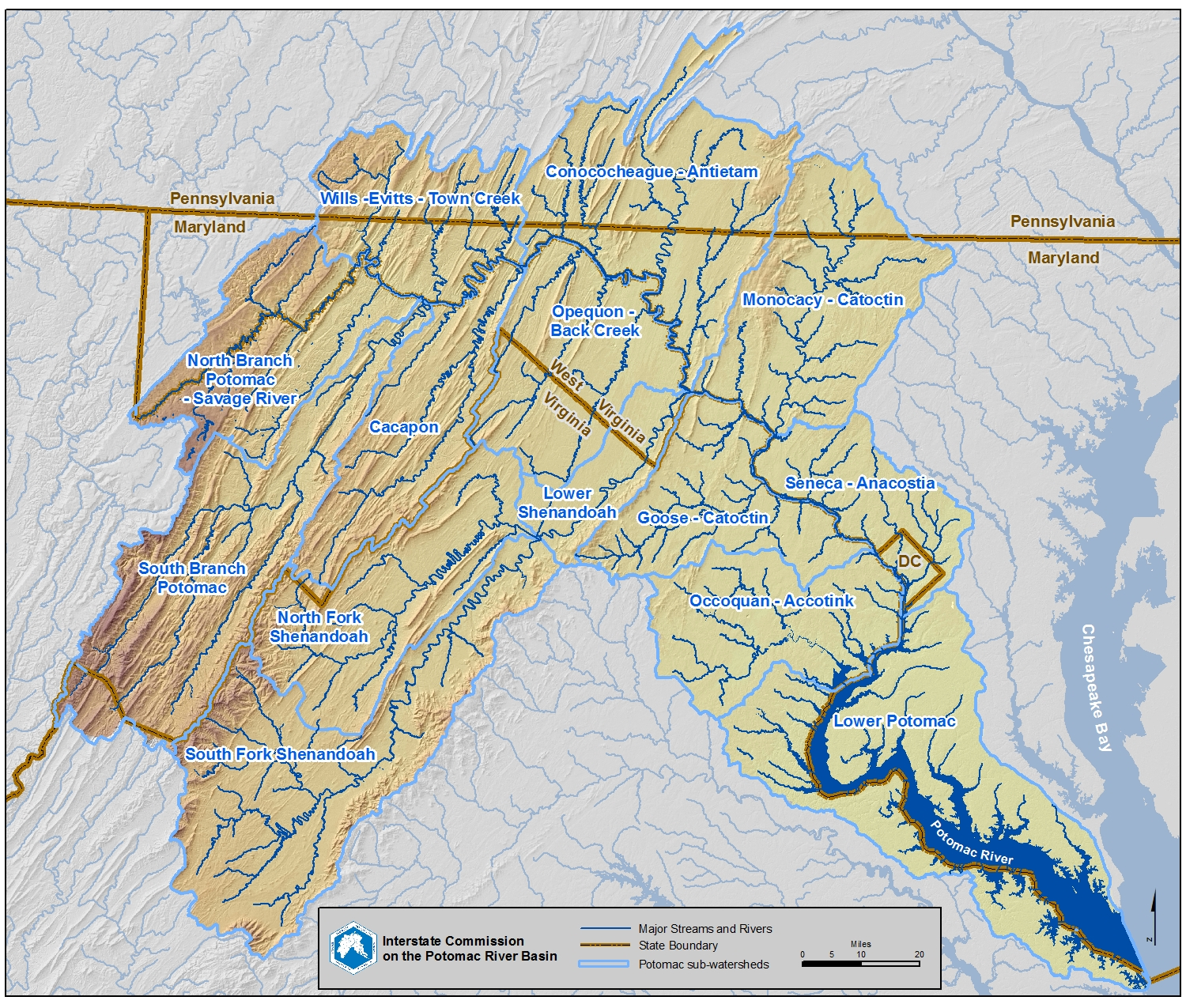 Potomac River On Map Maps   ICPRB