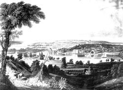Historical Anacostia River near present-day Washington, D.C.
