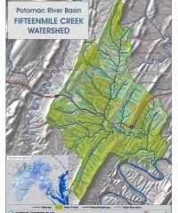 A topographic map of Fifteenmile Creek.
