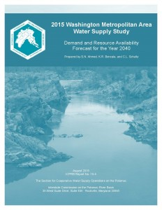 Cover Image: 2015 Washington Metropolitan Area Water Supply Study