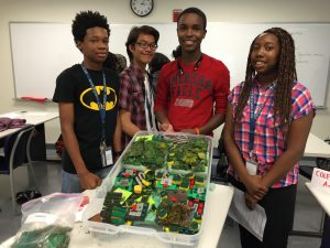 Students with watershed models