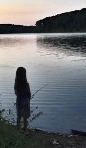 Little Girl Fishing at Little Seneca Lake