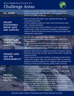 Potomac River Basin Comprehensive Water Resources Plan: Challenge Areas