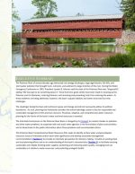Potomac River Basin Comprehensive Water Resources Plan Executive Summary: A photo of a covered bridge over water and the text of the Executive Summary below.