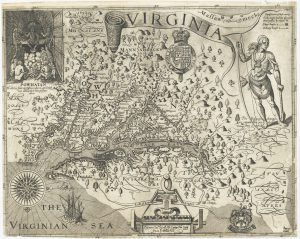 A map of the Potomac River in Virginia from 1612.
