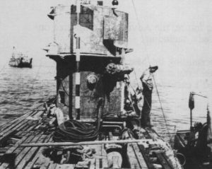 A Photo of the top of U-1105, the Black Panther
