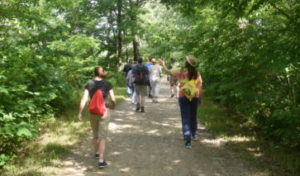 Hikers on the C&O Canal.